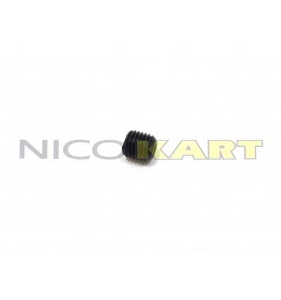 Grano filettato nero 5X6mm passo 0,8