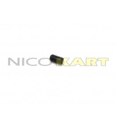 Grano filettato nero 5X10mm passo 0,8