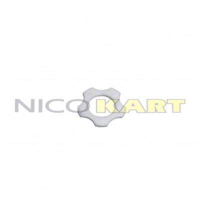 Rasamento biella stellato argentato foro D.18mm Sp.1mm