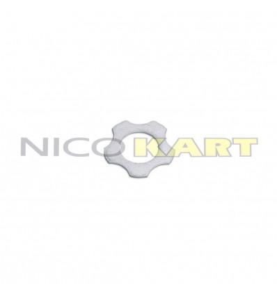Rasamento biella stellato argentato foro 20mm Sp.1mm